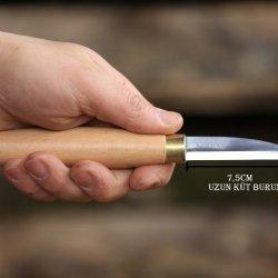 Ahşap Kuksa Kaşık Oyma Bıçağı-4 Küt Burun Uzun