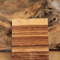1cmx4cmx13cm Zebrana  Ağacı Ters Kesim 1 Çift