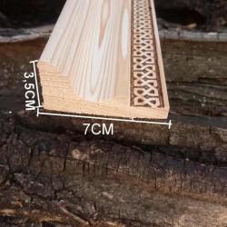 Taç 3.5cmx7cmx100cm Desenli